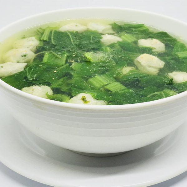 Canh cải nấu chả cá thác lác